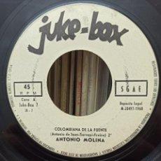 Discos de vinilo: JUKE - BOX / ANTONIO MOLINA. Lote 277017893