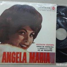 Discos de vinilo: EP ANGELA MARIA, MUCHACHA SOLITARIA, LA ARITMETICA DE LA SAMBA, NO ME PREIUNTES + 1. Lote 277017988