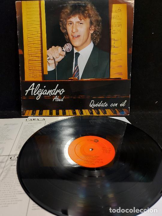 ALEJANDRO ABAD / QUÉDATE CON ÉL / LP - LEIBER-1985 / MBC. ***/*** LETRAS. (Música - Discos - LP Vinilo - Solistas Españoles de los 70 a la actualidad)