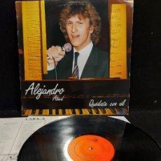 Discos de vinilo: ALEJANDRO ABAD / QUÉDATE CON ÉL / LP - LEIBER-1985 / MBC. ***/*** LETRAS.. Lote 277018318