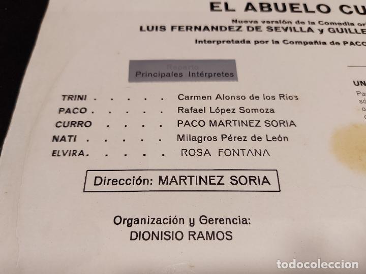 Discos de vinilo: PACO MARTINEZ SORIA / EL ABUELO CURRO / LP - VERGARA-1968 / MBC. ***/*** - Foto 3 - 277018998