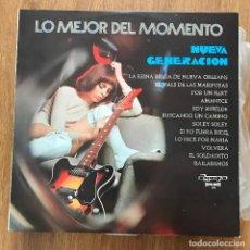 Discos de vinilo: NUEVA GENERACIÓN - LO MEJOR DEL MOMENTO - LP OLYMPO 1972. Lote 277023803