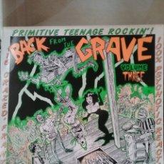 Discos de vinilo: BACK FROM THE GRAVE VOL.3 CRYPT RECORDS 1986 GARAGE PUNK 60'S. Lote 277030698