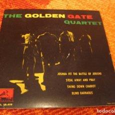 Discos de vinilo: THE GOLDEN GATE QUARTET EP 45 RPM JOSHUA FIT THE BATTLE OF JERICHO LA VOZ DE SU AMO ESPAÑA 1960. Lote 277031703