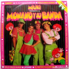 Discos de vinilo: MONANO Y SU BANDA - MILIKI PRESENTA A: MONANO Y SU BANDA - LP EMI 1985 BPY. Lote 277032633
