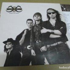 Discos de vinilo: HEROES DEL SILENCIO (LP) SENDEROS DE TRAICION AÑO – 1990 – ENCARTE CON LETRAS. Lote 277035043