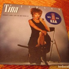 Discos de vinilo: TINA TURNER SINGLE WHAT´S LOVE GOT TO DO WITH IT CAPITOL PROMOCIONAL ESPAÑA 1984. Lote 277041058