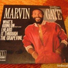 Discos de vinilo: MARVIN GAYE SINGLE WHAT´S GOING ON MOTOWN PROMOCIONAL ESPAÑA 1983. Lote 277044098