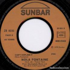 """Discos de vinilo: NOLA FONTAINE - LOVE YOU TONIGHT / CAN'T EXPLAIN IT (7""""). Lote 277044683"""