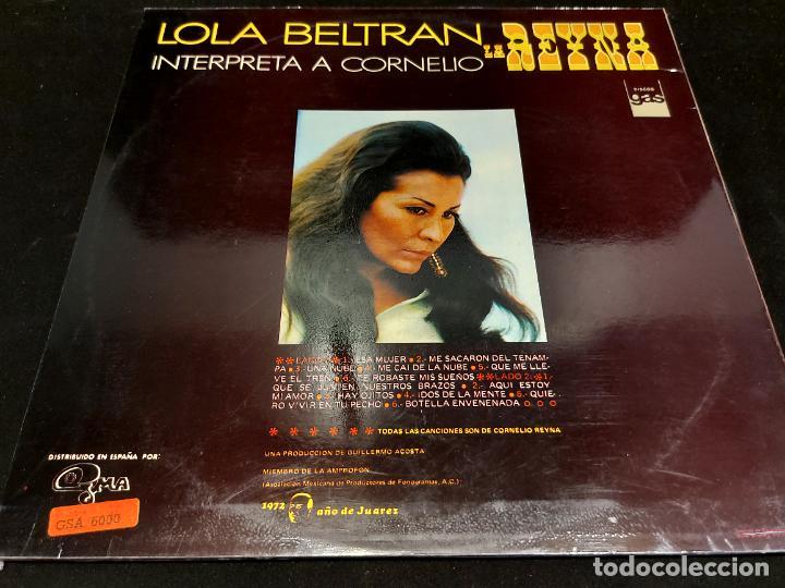 Discos de vinilo: LOLA BELTRAN - LA REINA - INTERPRETA A CORNELIO / LP - GMA-1973 / MBC. ***/*** - Foto 2 - 277045088