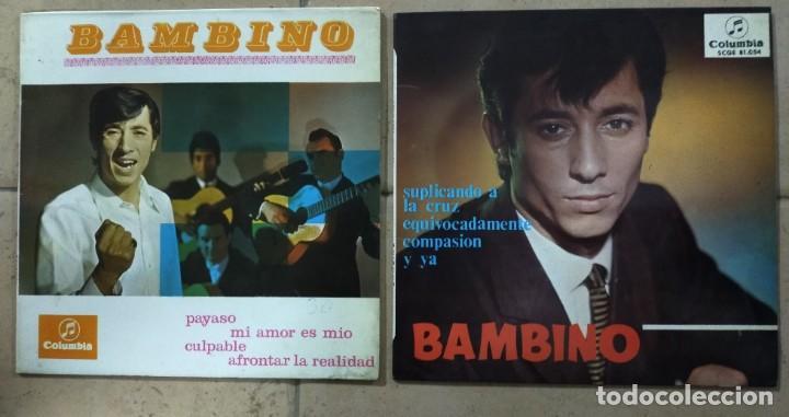 """2 DISCOS DE 7"""". BAMBINO. (Música - Discos de Vinilo - Maxi Singles - Flamenco, Canción española y Cuplé)"""