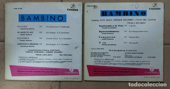 "Discos de vinilo: 2 discos de 7"". BAMBINO. - Foto 2 - 277045543"