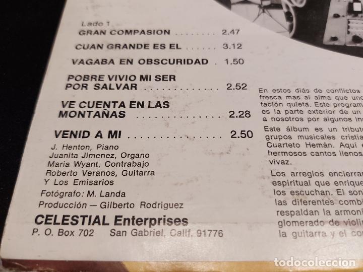 Discos de vinilo: CUARTETO HEMÁN / GRAN COMPASIÓN / LP - CELESTIAL RECORDS- / MBC.***/*** RARO - Foto 3 - 277045738