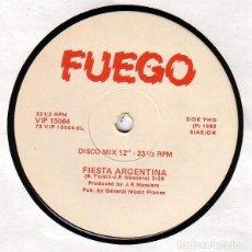 """Discos de vinilo: FUEGO* - MISA CRIOLLA / FIESTA ARGENTINA (12""""). Lote 277047178"""