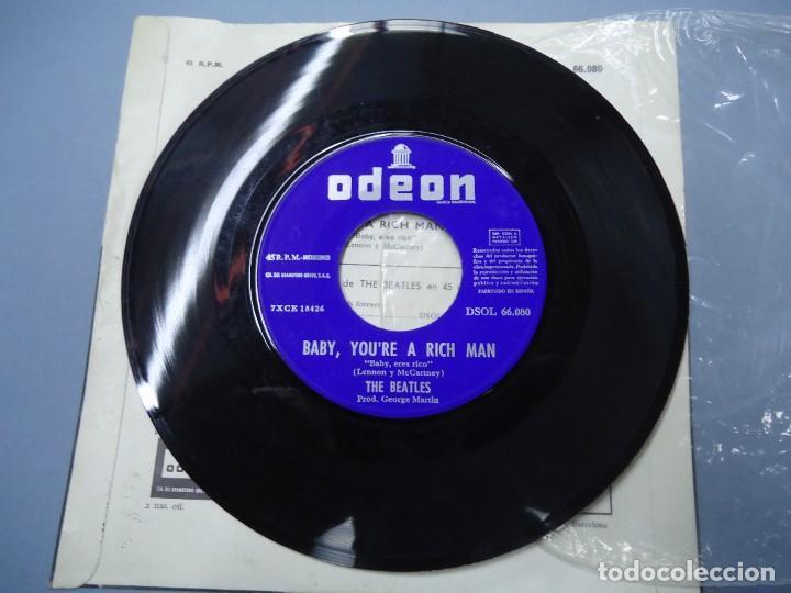 Discos de vinilo: THE BEATLES ALL YOU NEED IS LOVE - BABY YOU´RE A RICH MAN 1967 single DSOL 66080 SINGLE DE THE BEAT - Foto 4 - 277049223