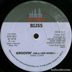 "Discos de vinilo: BLISS (32) - GROOVIN (ON A LOVE SONG) (12""). Lote 277049273"