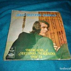 Discos de vinilo: JOAN MANUEL SERRAT. CANTARES + 3. EP. EDC. ARGENTINA, ODEON POPS, 1970 (#). Lote 277049853