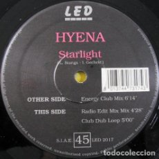 """Discos de vinilo: HYENA - STARLIGHT (12""""). Lote 277053538"""