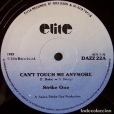 """Discos de vinilo: STRIKE ONE - CAN'T TOUCH ME ANYMORE (12""""). Lote 277054093"""