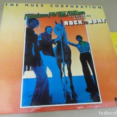 Dischi in vinile: THE HUES CORPORATION (LP) FREEDOM FOR THE STALLION AÑO – 1974 – PROMOCIONAL CON HOJA PROMO. Lote 277070653