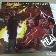 Discos de vinilo: H.E.A.L. (LP) CIVILIZATION VS. TECHNOLOGY AÑO – 1991 – ENCARTE CON CREDITOS. Lote 277071013