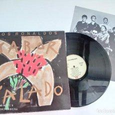 Discos de vinilo: LOS RONALDOS - SABOR SALADO - LP ORIGINAL EMI 1990 // DISCO DE VINILO. Lote 277071413