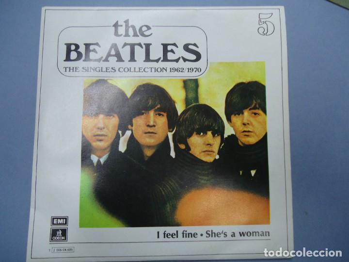 THE BEATLES - I FEEL FINE SHE`S A WOMAN EDICIÓN LIMITADA DEL CONJUNTO DE THE BEATES THE SINGLES COL (Música - Discos - Singles Vinilo - Pop - Rock Internacional de los 50 y 60)