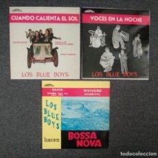 Disques de vinyle: COMO NUEVOS!! LOTE VINILOS LOS BLUE BOYS : CUANDO CALIENTA EL SOL + VOCES EN LA NOCHE + BOSSA NOVA. Lote 277075813