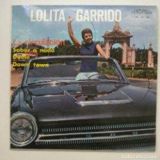 Discos de vinilo: NUEVO!! VINILO LOLITA GARRIDO / LA CIRCULACIÓN + SABOR A NADA + DUELE + DOWN TOWN (FONOPOLIS). Lote 277076838