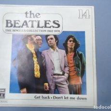 Discos de vinilo: THE BEATLES - GET BACK DON`T LET ME DOWN EDICIÓN LIMITADA DEL CONJUNTO DE THE BEATES THE SINGLES COL. Lote 277079868
