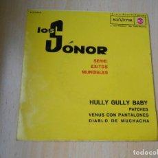 Discos de vinilo: SONOR, LOS, EP, HULLY GULLY BABY + 3, AÑO 1962. Lote 277083313