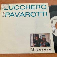 Discos de vinilo: ZUCCHERO AND PAVAROTTI (MISERERE) SINGLE 1992 (EPI24). Lote 277083548