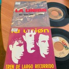 Discos de vinilo: LA UNION LOTE (TREN LARGO RECORRIDO MAS DURA SERA CAIDA) SINGLE PROMO (EPI24). Lote 277084293
