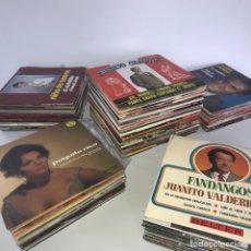 Disques de vinyle: 135 SINGLES DE FLAMENCO. ESTADO MINT, NUNCA PUESTOS. Lote 277084443