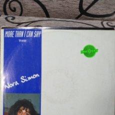 Discos de vinilo: NORA SIMON - MORE THAN I CAN SAY. Lote 277086638