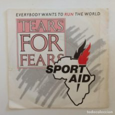 Discos de vinilo: TEARS FOR FEARS – EVERYBODY WANTS TO RUN THE WORLD / EVERYBODY WANTS TO RUN THE WORLD (RUNNING VERS. Lote 277087553