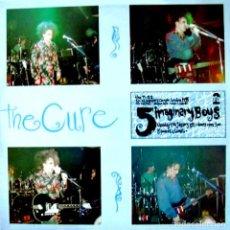 Discos de vinilo: LPX2 - THE CURE - 5 IMAGINARY BOYS (NEW WAVE LIVE CONCERT) VINYL & SLEE V++, RARE WHITE LABEL. Lote 277090013