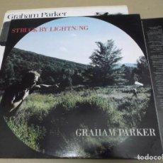 Discos de vinilo: GRAHAM PARKER (LP) STRUCK BY LIGHTNING AÑO – 1991 – DOBLE DISCO – HOJA CON LETRAS – EDICION FRANCIA. Lote 277094103