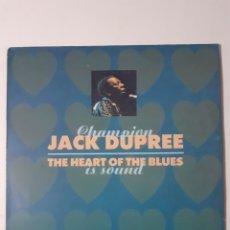Discos de vinilo: CHAMPION JACK DUPREE. THE HEART OF THE BLUES IS SOUND. 1971 ESPAÑA. 30112691. DISCO Y CARÁTULA VG++. Lote 277100638
