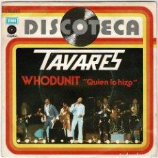 Discos de vinilo: TAVARES - WHODUNIT / FOOL ON THE YEAR. SINGLE. Lote 277104418