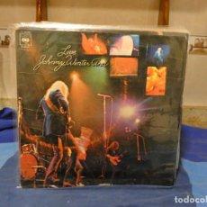 Discos de vinilo: LP JOHNNY WINTER LIVE AND ESPAÑA 71 LABEL CBS ANTIGUO BASTANTE TROTE NO RALLONES MORTALES. Lote 277113253