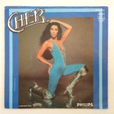 Discos de vinilo: CHER – HELL ON WHEELS / GIT DOWN (GUITAR GROUPIE) HOLANDA,1979 PHILIPS. Lote 277115548