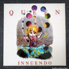 Discos de vinilo: 1° EDICIÓN 1991 - QUEEN INNUENDO - VINILO CASI NUEVO Y ENCARTE CON LETRAS - EMI-ODEON. Lote 277119803