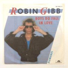 Discos de vinilo: ROBIN GIBB – BOYS DO FALL IN LOVE / DIAMONDS GERMANY,1984 POLYDOR. Lote 277124638