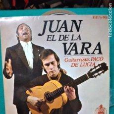 Discos de vinilo: JUAN EL DE LA VARA CON PACO DE LUCIA. UN CAMINO Y UN ROMERO + 3. EP HISPAVOX 1970. Lote 277128403