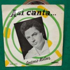 Discos de vinilo: ANTONIO MOLINA. QUE PASA Y MIRA + 3. EP ODEON. Lote 277128688