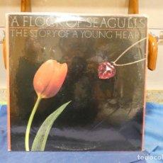 Discos de vinilo: LP ALEMANIA 1984 A FLOCK OF SEAGULLS STORY OF A YOUNG HEART 1984 ESTADO CORRECTO. Lote 277134863