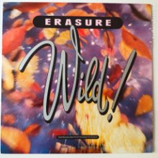 Discos de vinilo: ERASURE- WILD!- SPAIN LP 1989 + ENCARTE + DESPLEGABLE- COMO NUEVO.. Lote 277135588