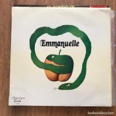 Discos de vinilo: VV.AA. - EMMANUELLE - LP OLYMPO 1975 - JOSÉ GUARDIOLA, LOS VALLDEMOSA, DANIEL CLAVERO, RAY L. FALCON. Lote 277135978
