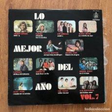 Discos de vinilo: VV.AA. - LO MEJOR DEL AÑO VOL. 7 - LP HISPAVOX 1970 - KARINA, RAPHAEL, LOS ÁNGELES, LED ZEPPELIN. Lote 277136358